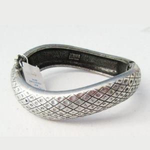 Lia Sophia Antique Silver Tone Sidewinder Bracelet